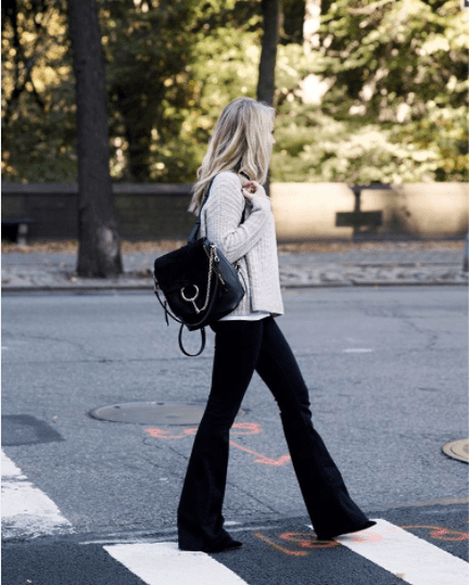 2a9bdc7550 chloe faye backpack streetstyle Chloe-Black-Medium-Faye-Backpack-Bag-3