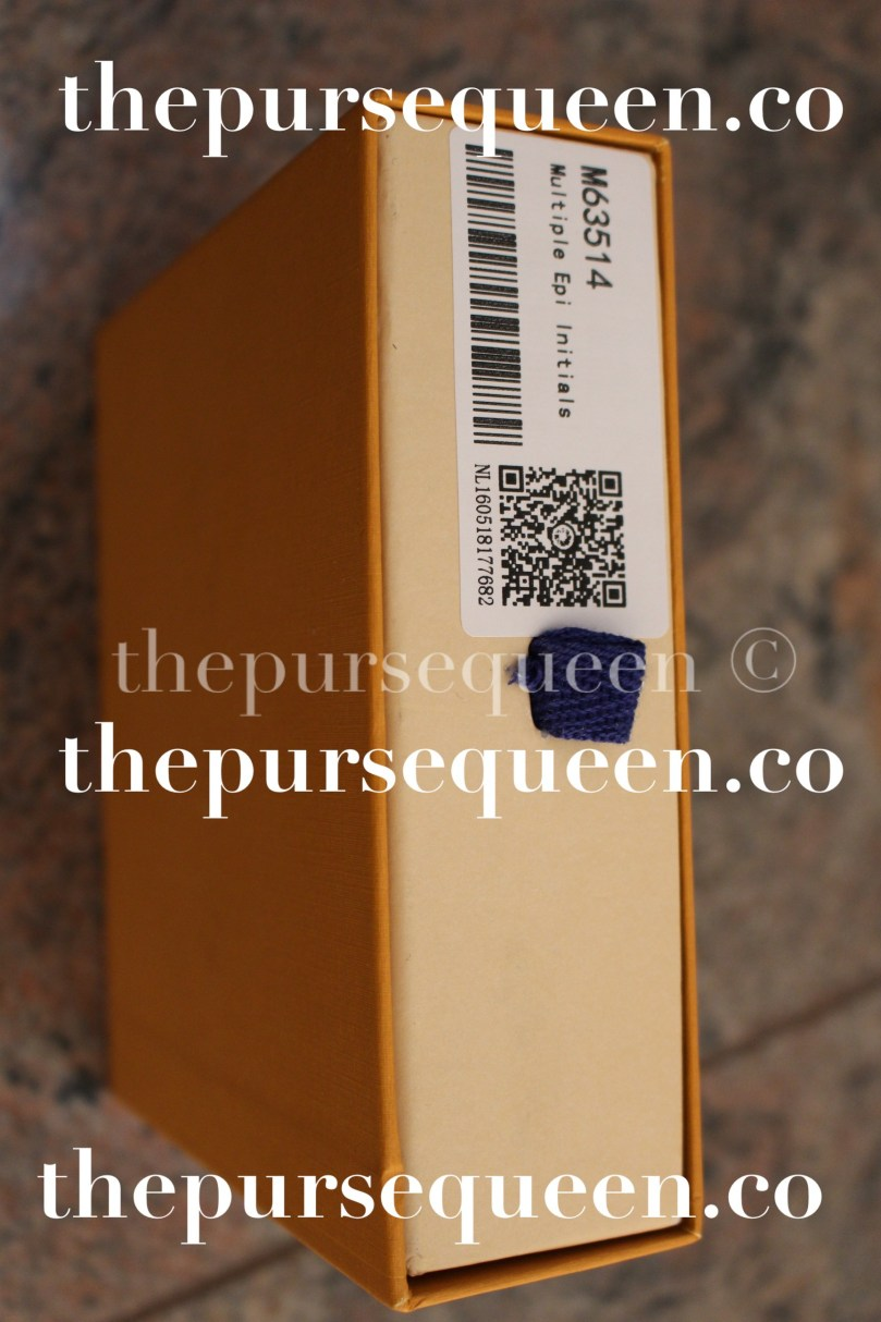 Louis Vuitton Multiple Epi Initials Replica Wallet Box