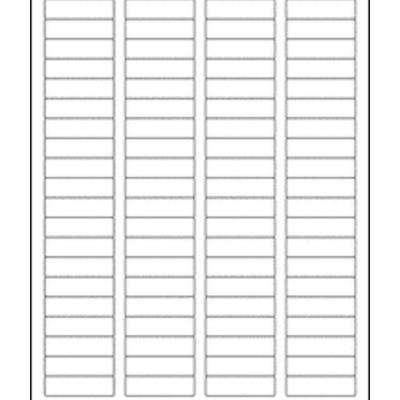 """100 Sheets Laser/Inkjet Labels 1/2"""" x 1 3/4"""" labels"""