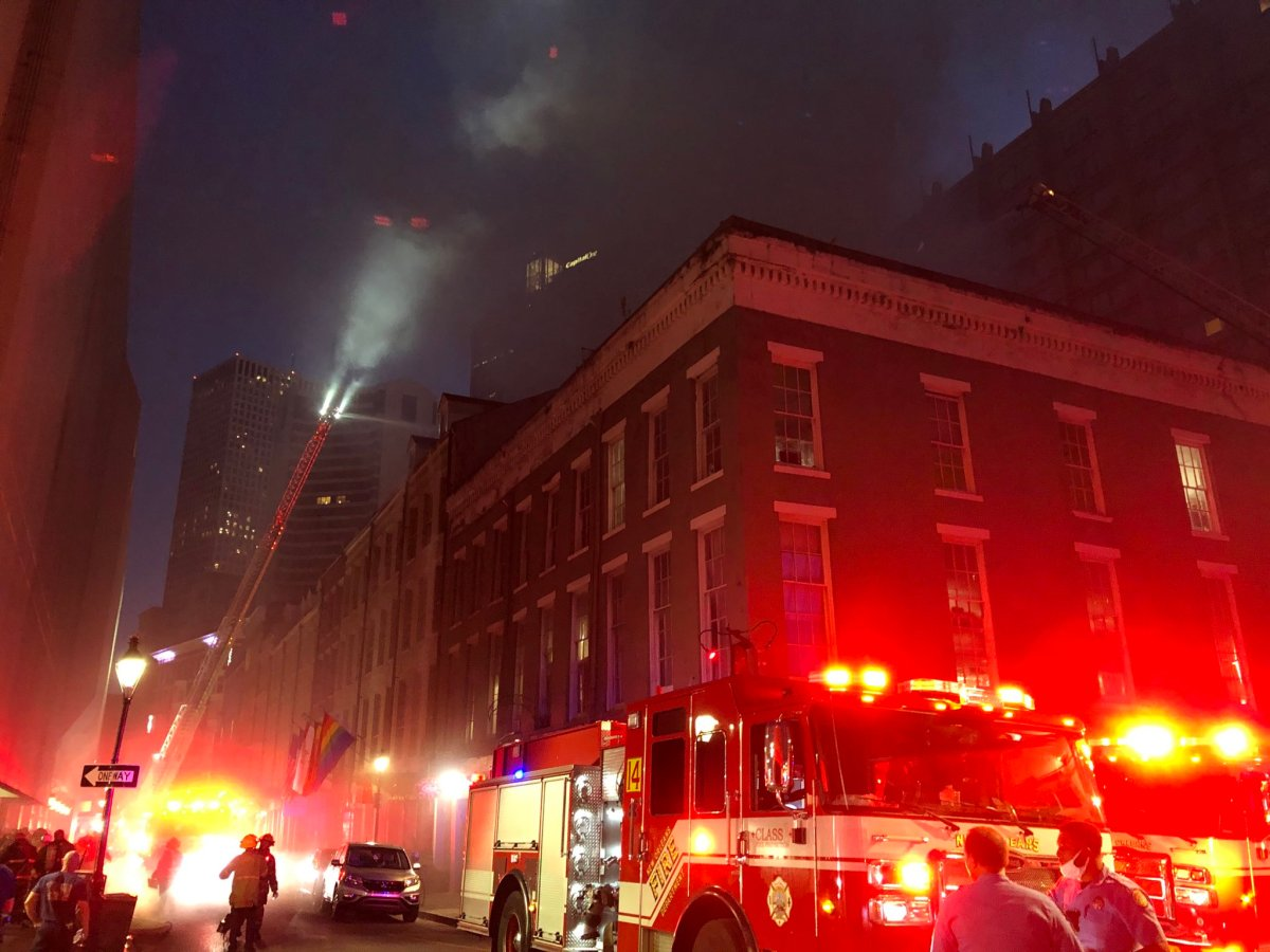 UPDATED Crews battle 6-alarm blaze at Quarter House Hotel; two firefighters injured