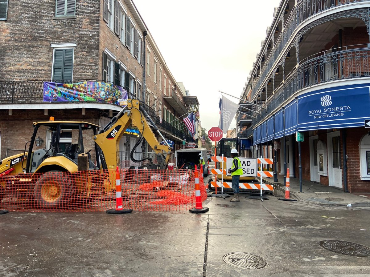Intersection of Chartres and Conti streets closed for workdays until April 9 for electric utility upgrades