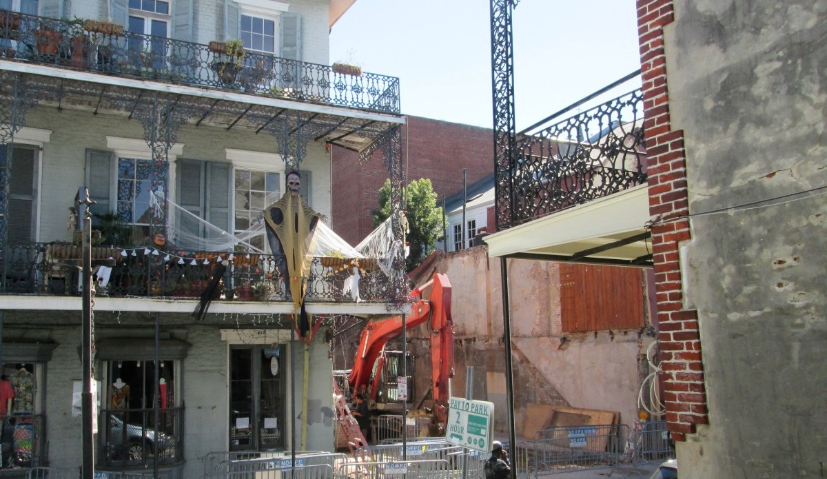 Application filed to construct temporary film set at Royal Street building collapse site