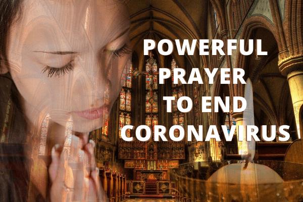 girl offers prayer during coronavirus crisis