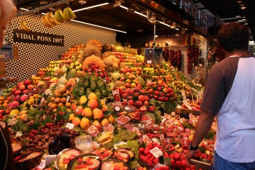 For fresh fruit, fish, meat and anything else you can imagine visit La Boqueria.