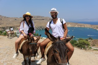 A ride with our friends that helped us reach the highest level of Lindos!