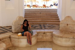 Where the Ancient Greeks were having baths.