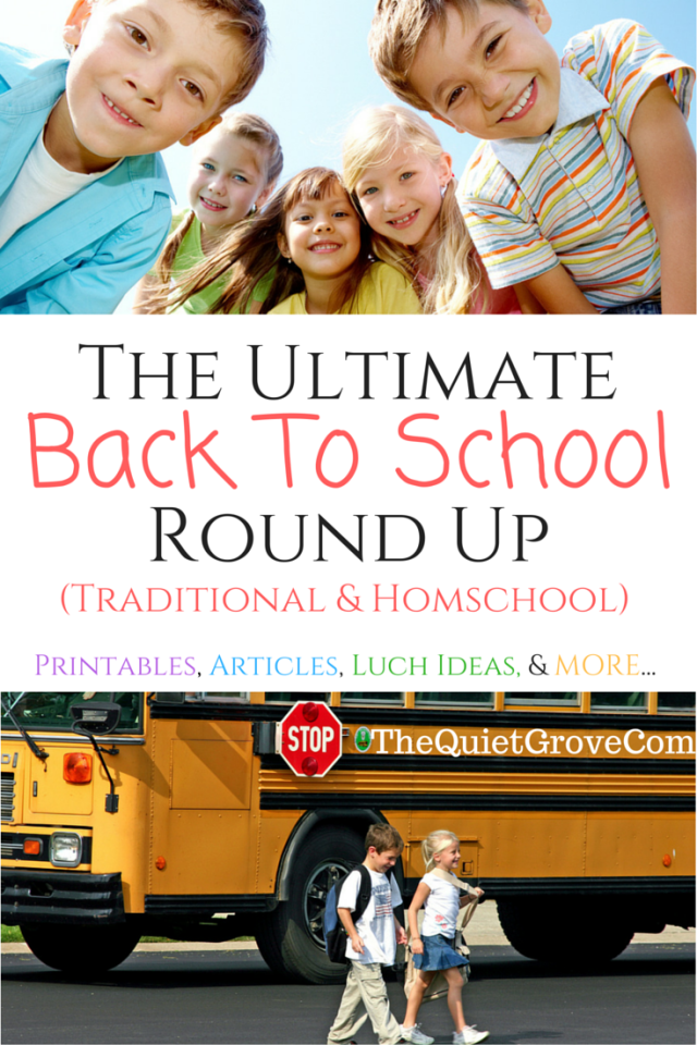 The Ultimate Back to School Roundup