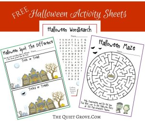 FREE Halloween Activity Sheets
