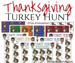 Thanksgiving Turkey Hunt (Free Printable)
