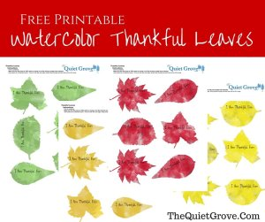 Water Color Fall Leaves Printable (1)