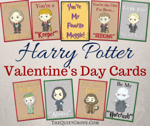 Free Harry Potter Valentines Day Cards