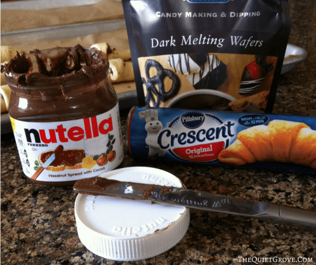 Sinfully Delicious Chocolate Nutella Croissonts