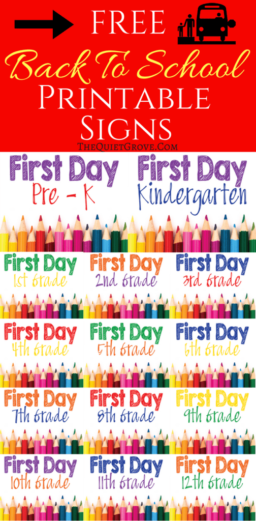 5 FREE Back to School Printable Sign Sets (1)