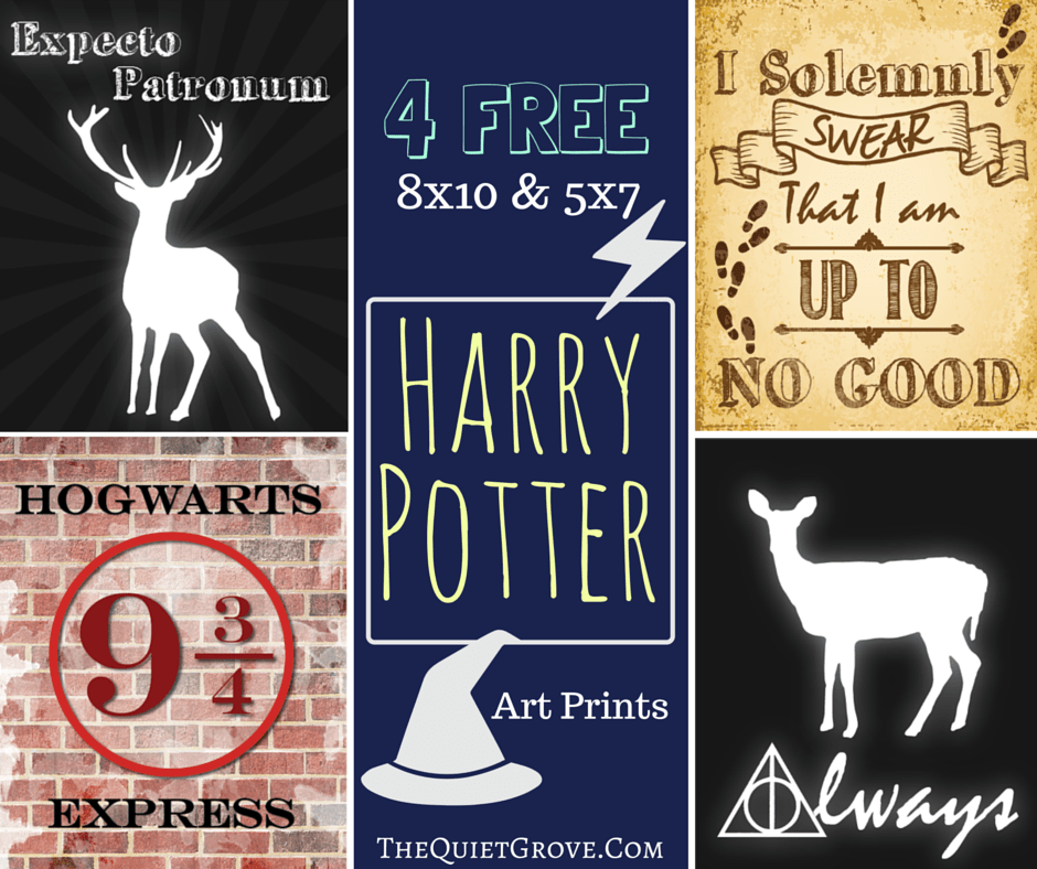 picture regarding Free Printable Harry Potter Bookmarks named Totally free Harry Potter Celebration Printables! ⋆ The Serene Grove