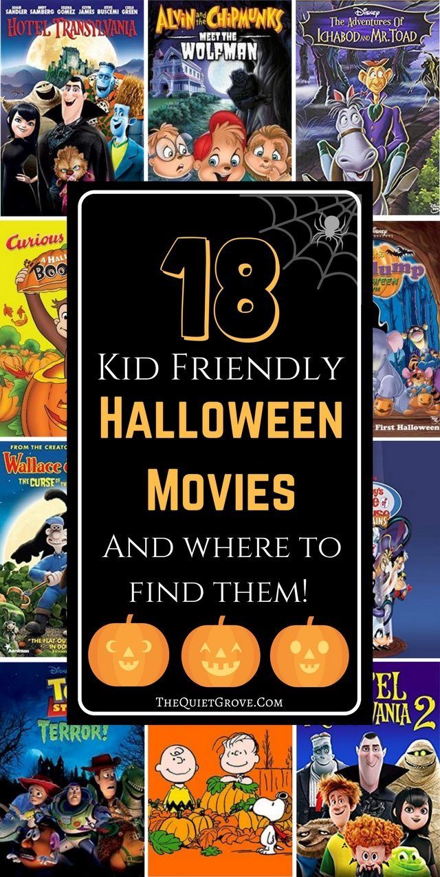 18 Kid Friendly Haloween Movies and Where to Find them.