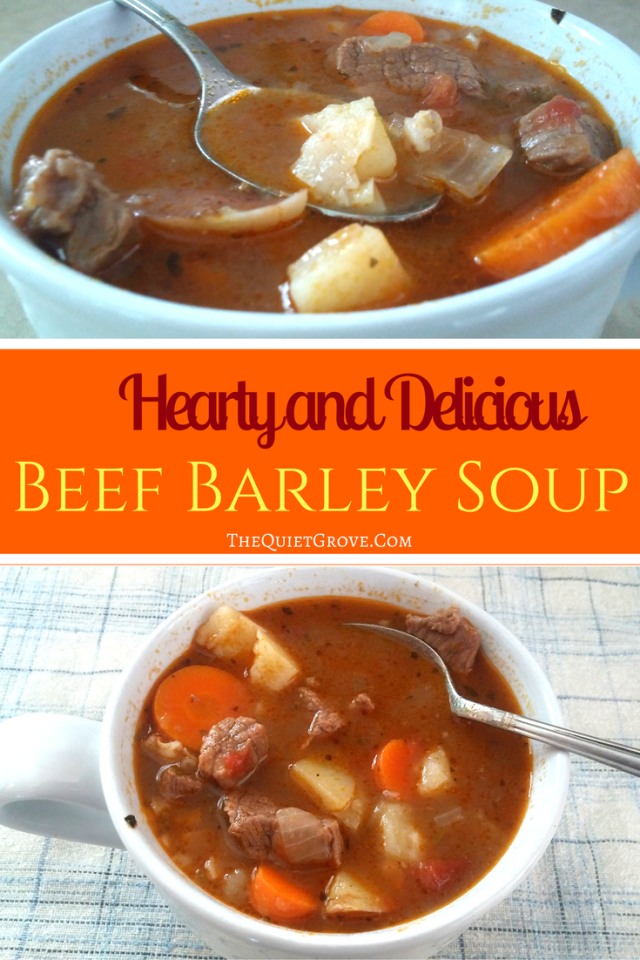 Hearty and Delicious Homemade Beef Barley Soup