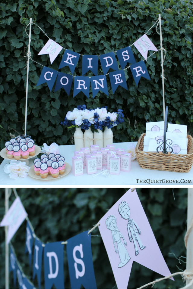 Diy Wedding Reception Kids Corner With Cricut ⋆ The Quiet