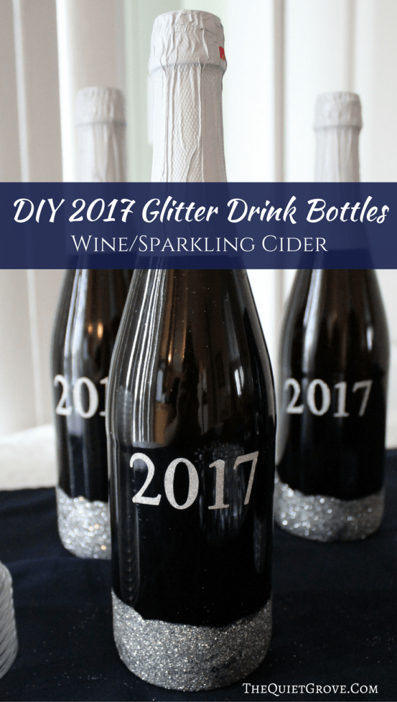 these 2017 glitter bottles are easy to make and are sure to make a statement at your new years party
