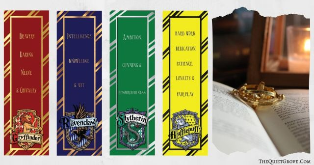 It's just a picture of Insane Printable Harry Potter Bookmarks