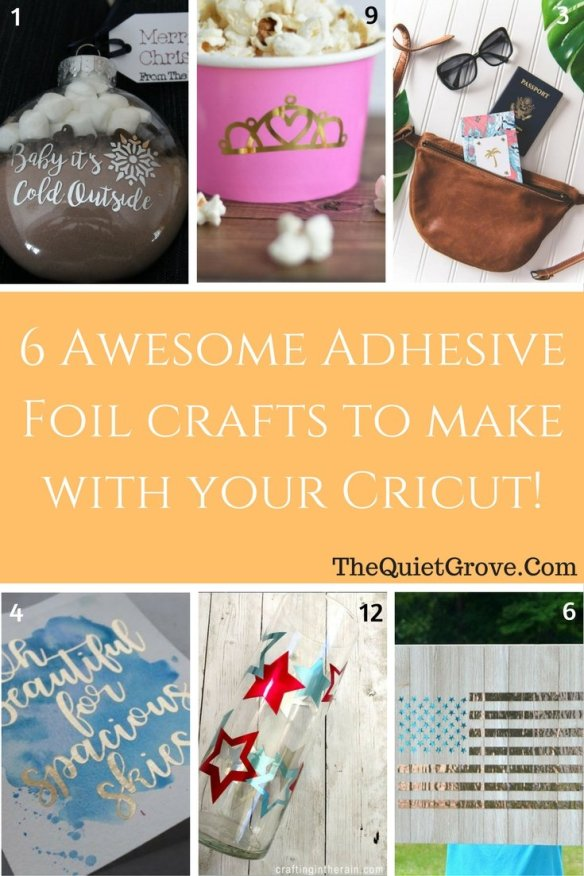 79 DIY Cricut Projects using 12 Different Crafting Materials