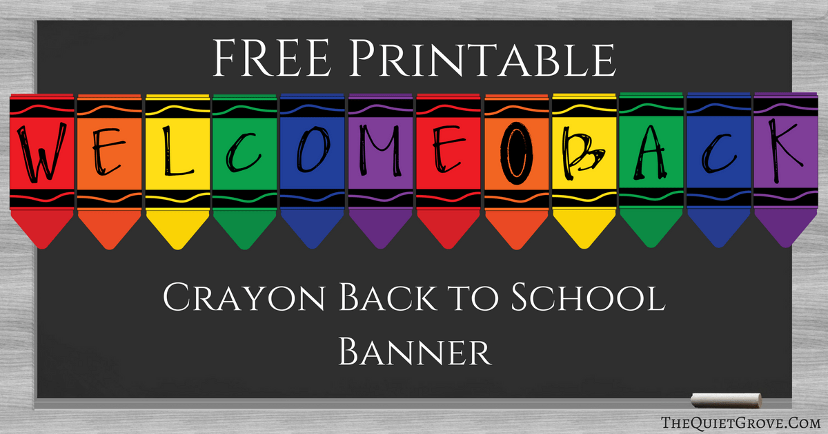 It's just a graphic of Genius Welcome Back Banner Printable