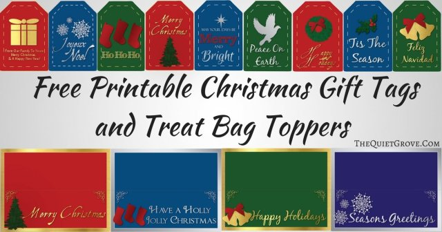Free printable christmas gift tags and treat bag toppers the looking for some elegant printable christmas gift tags and treat bag toppers for your gift wrapping negle Images