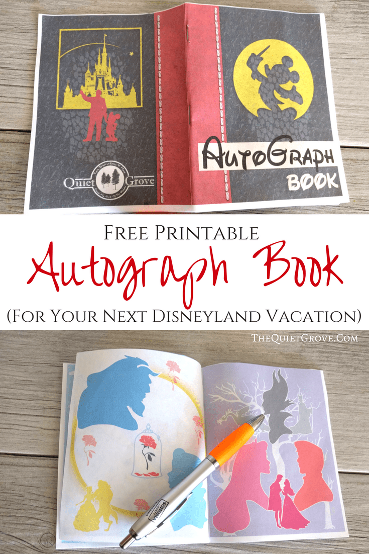 photo relating to Printable Disney Autograph Book identified as Cost-free Printable Autograph E book For Your Up coming Disney Getaway