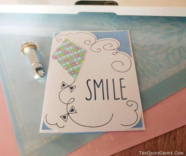 The Second Part Of Setting Up Your Machine Is Making Fun Make It Now Project Adorable Smile Kite Card That Will Use Fine Point Blade For Cutting