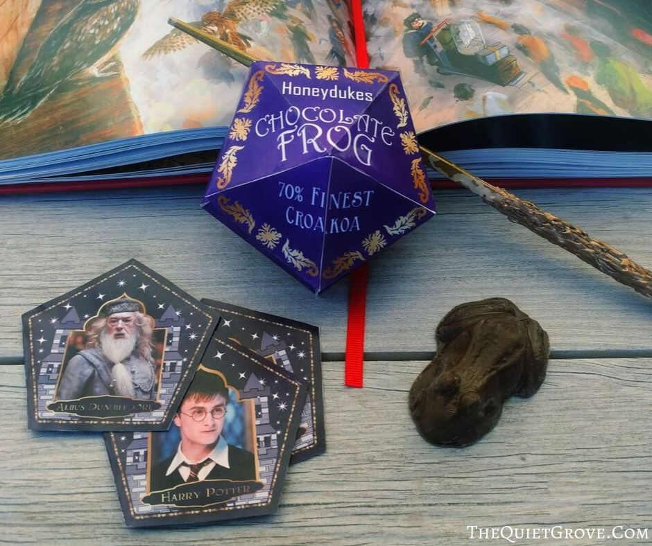 photograph relating to Chocolate Frog Cards Printable titled Do-it-yourself Chocolate Frog Containers Wizard Playing cards (with Free of charge