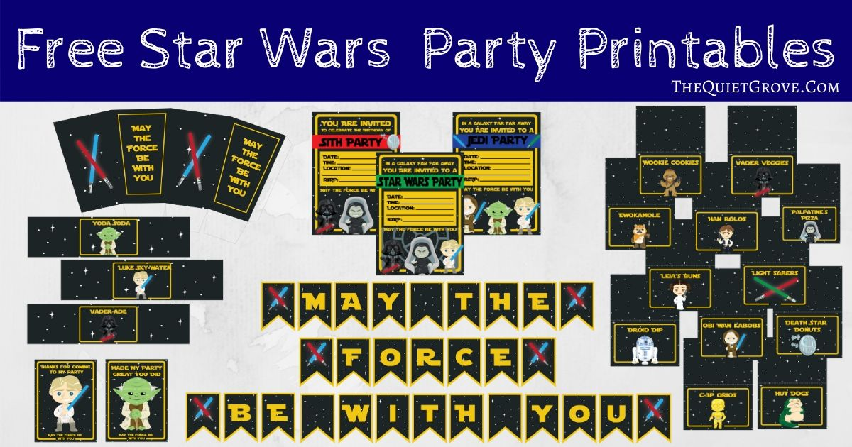 Free Star Wars Party Printables The Quiet Grove