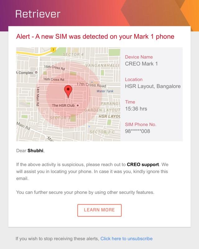 Retriever Email Alert