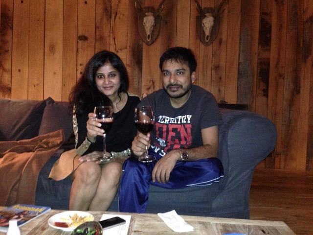 Prakash Saraf with wife