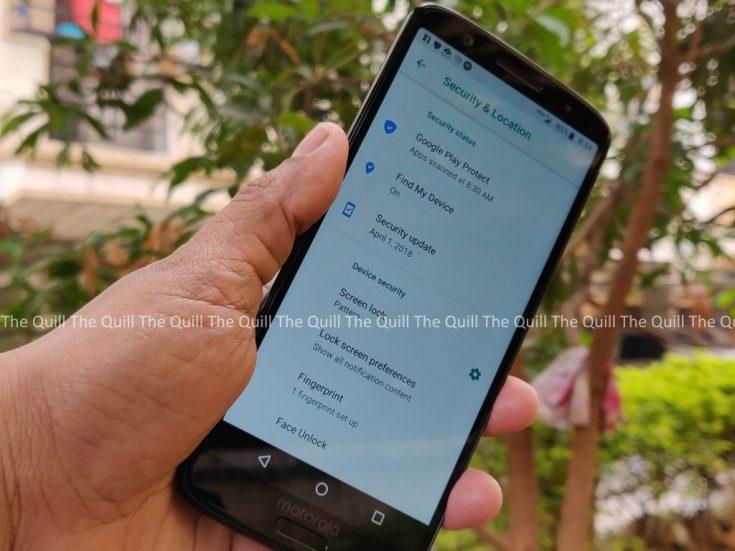 Moto G6 Screen