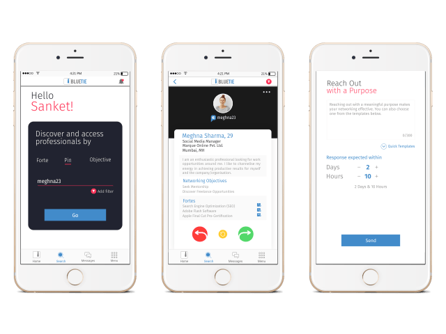 BlueTie App Screen