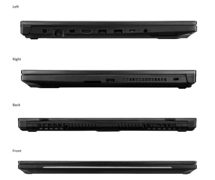 ASUS ROG STRIX Scar II Side Views