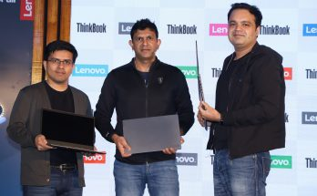 Lenovo ThinkBook launched in India Today - (LtoR) Amit Doshi, CMO, Rahul Agarwal, CEO and MD and Ashish Sikka, Director SMB