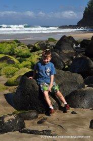 Ian at Hanakapi'ai Beach