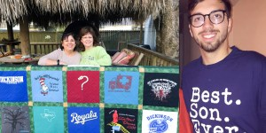 T-shirt Quilt, Graduation Quilt, Dickinson High School,
