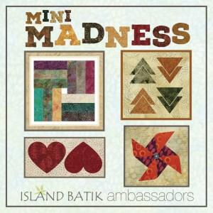 Picture of miniature quilts using Island Batik Fabrics