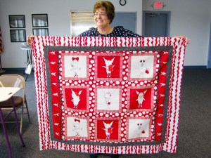 Quilting Guild Member Denise made this quilt as a gift
