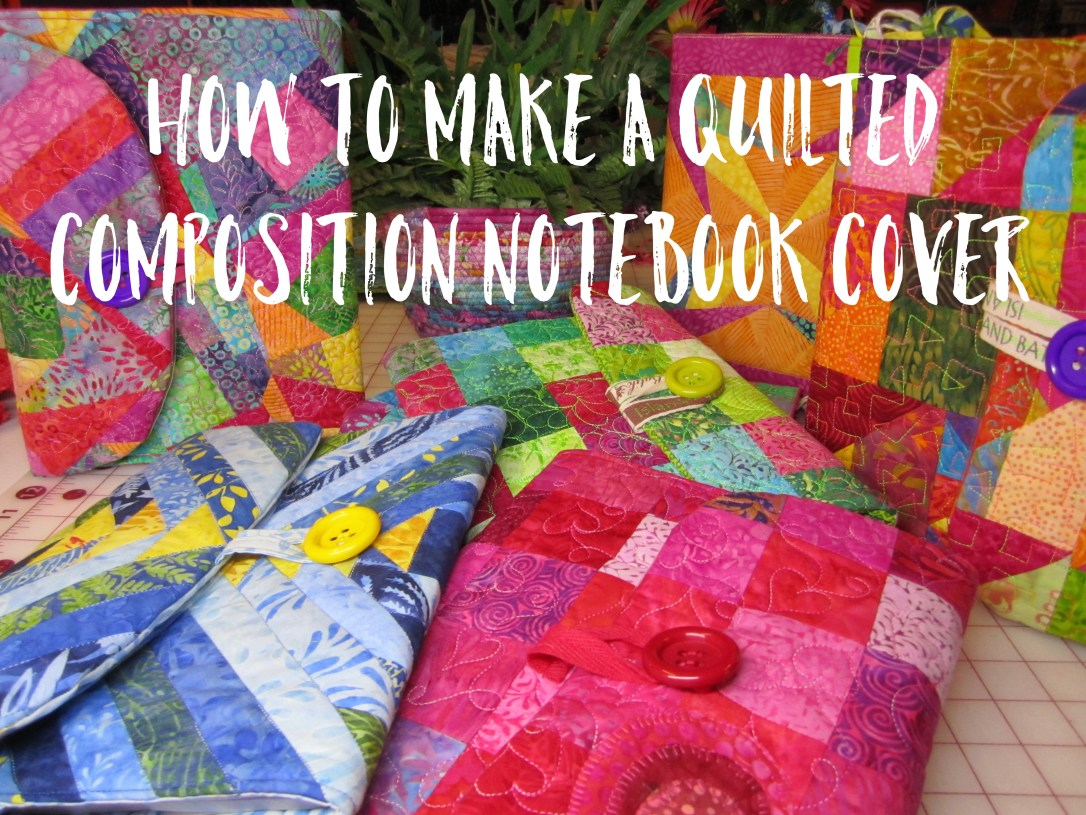 Making quilted composition notebook covers is addicting - we bet you can't make just one!