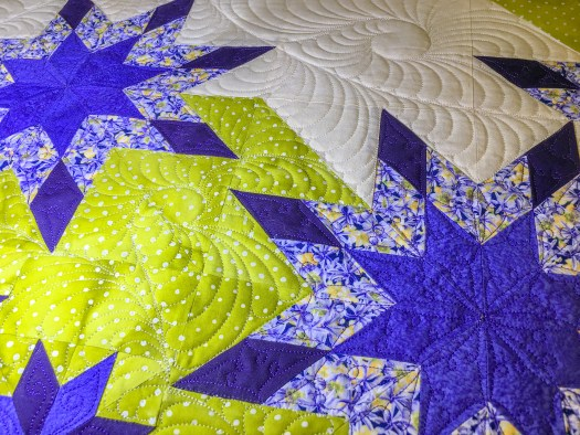 hand-guided longarm quilting by Karen Overton