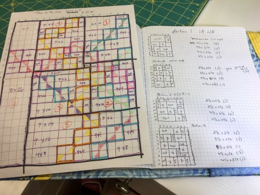 Modern Quilt Pattern design in the process