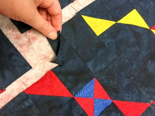 Modern Quilt partial seam construction