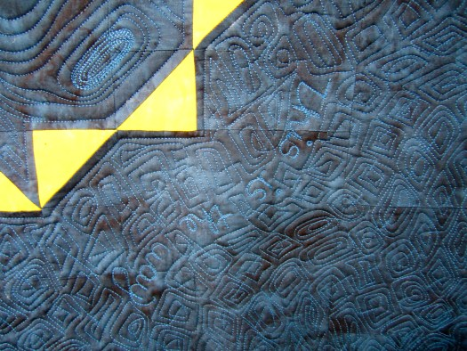 writing in the quilting