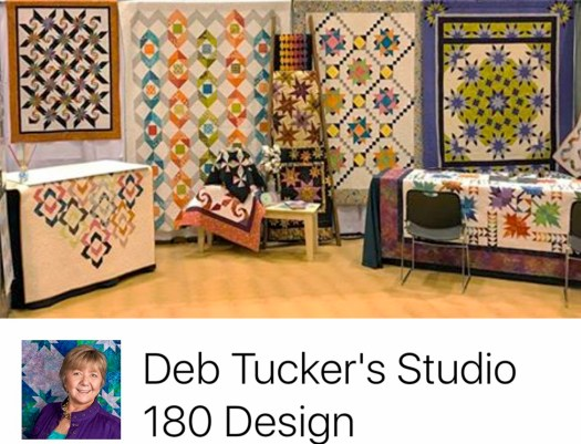 Facebook page of Deb Tucker showing her beautiful quilts at Spring market 2017