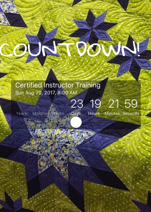 Countdown until Deb Tucker's Certified Instructor Training