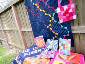 Collection of quilts made by Karen Overton, Island Batik Ambassador