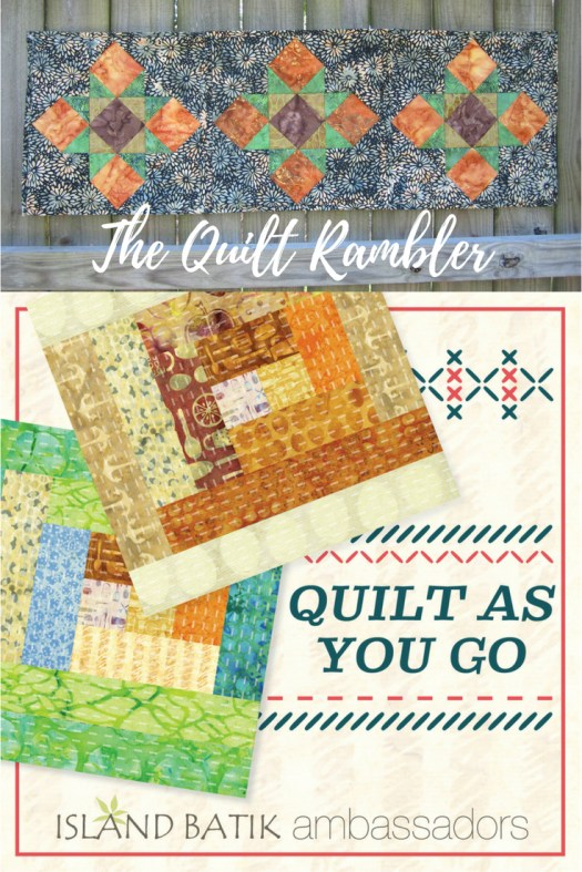 Quilt As You Go Table Runner tutorial