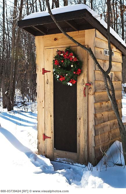 Outhouse in the snow
